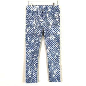 Gap Always Skinny Blue and White Patterned Jeans